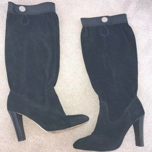 "Michael KORS ""Harness Top"" Black Suede Boots"